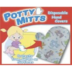 Potty Mitts - Disposable Hand Covers for kids - 12 pack