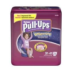Huggies Pull-Ups Training Pants, Nighttime, Girls, 3T-4T, 21-Count (Pack of 4)