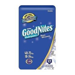 Huggies Pull-Ups Goodnites Underpants, Boys, Small/Medium, 17-Count