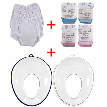 15-Pack Training Pants & Simple Potty Value Pack, Potty Seat, Pink Pants, Size 4