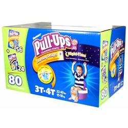 Huggies Pull-Ups Training Pants for BOYS + Night Time (56+24=80 Training Pants) 3T-4T (32-40 lbs, 15-18kg)