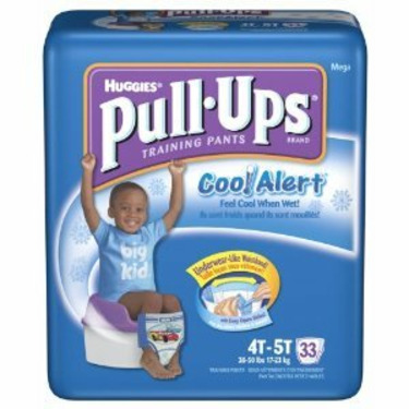 Huggies Pull-Ups Training Pants with Cool Alert Wetness Liner, Boys, 4T-5T, 33-Count