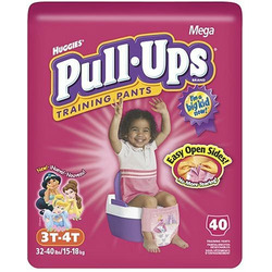 Huggies Pull-Ups Training Pants with Learning Designs, Girls, 3T-4T, 40-Count