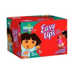 Pampers Easy Ups Trainers for Girls, Size 5, 80-Count