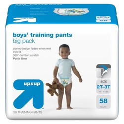 up & up™ Boys' Training Pants Big Pack - 2T-3T (58 Count)