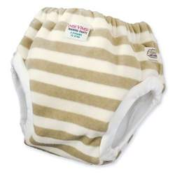 Imse Vimse Training Pants: 2-3 Years Organic Cotton Velour Olive Stripe