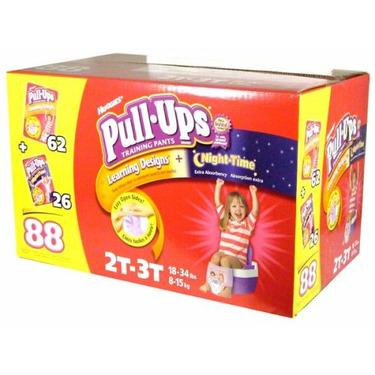 Huggies Pull-Ups Training Pants, Girls, 2T-3T, 88-Count