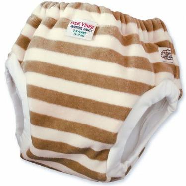 Imse Vimse Organic Velour Training Pants - JR (35-44lbs) - Mocha Stripe