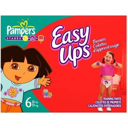 Pampers Easy Ups Trainers for Girls Size 6, 21-Count (Pack of 4)