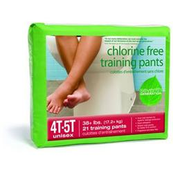 Seventh Generation Training Pants 4T-5T (38+ lbs.) 21 count Chlorine Free (Pack of 3)