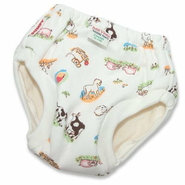 Imse Vimse Organic Cotton Bumpy Training Pants - JR (41-54lbs) - Farm Animal