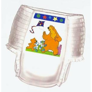 Curity RunArounds Toddler Pull-On Training Pants for Girls, Size Medium (Under 34 lbs), Case of 4/27s (108 ct)