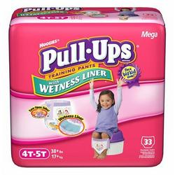 Huggies Pull-Ups Training Pants with Cool Alert Wetness Liner, Girls, 4T-5T, 33-Count