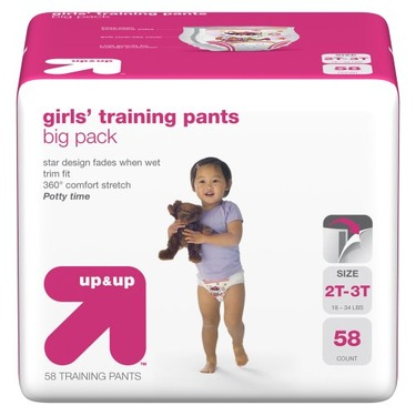 up & up™ Girls' Training Pants Big Pack - 2T-3T (58 Count)