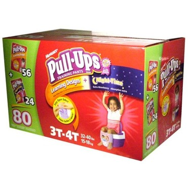 Huggies Pull-Ups Learning Designs + Night Time, 3T-4T, 80-Count