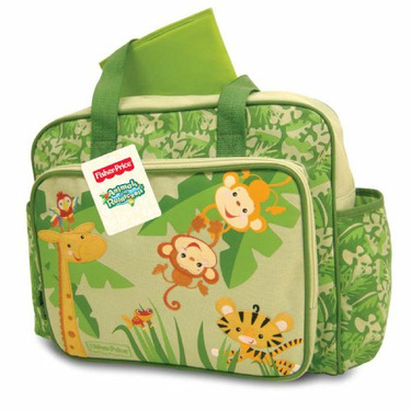 Fisher-Price Rainforest Diaper Bag, Green