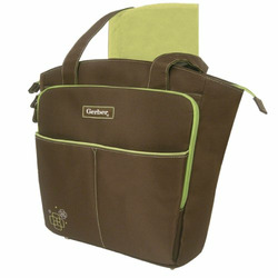 Gerber Tote Diaper Bag, Brown
