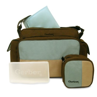 Gerber 4 in 1 Diaper Bag, Brown
