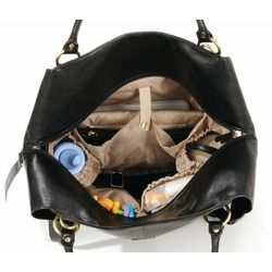 timi & leslie Convertible Charlie II Diaper Bag, Black