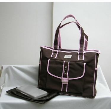 Diaper Tote Bag Brown/Pink