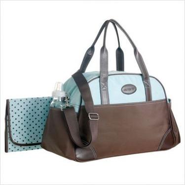 Ultimate Diaper Bag in Brown / Blue