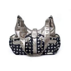 JJ Cole Collections Swag Diaper Bag, Silver Drop