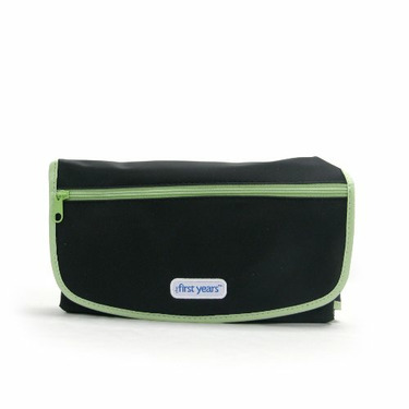 The First Years The First Years Deluxe Fold and Go Diapering Kit, Black/Green