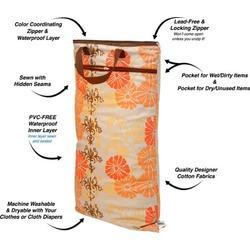 Planet Wise Hanging Diaper Wet/Dry Bag - Geometric Studio