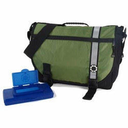 DadGear Courier Stripe Diaper Bag - Green