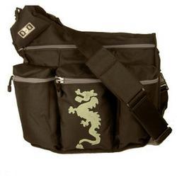 Diaper Dude Dragon Diaper Bag - Black