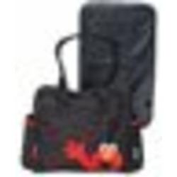 Elmo Diaper Bag LARGE Black / red Sesame Beginnings street baby