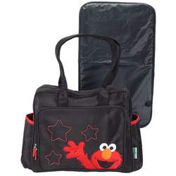 Elmo Diaper Bag LARGE Black / red Sesame Beginnings street baby