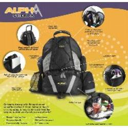 Baby Sherpa ALPHA Diaper 4-in-1 Bag Backpack (Black)