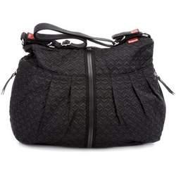 BabyMel Amanda Diaper Bag - Quilted Black