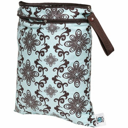 Planet Wise Wet/Dry Diaper Bag - Aqua Swirl