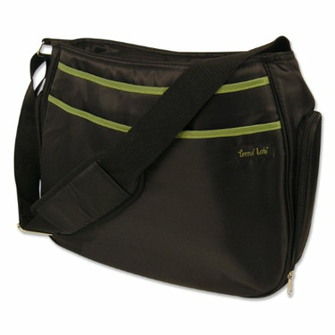 Trend Lab Ultimate Diaper Bag, Black/Avocado
