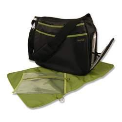 Trend Lab Ultimate Diaper Bag, Black/Avocado