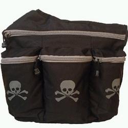 Diaper Dude Skull and Crossbones Diaper Bag - Black