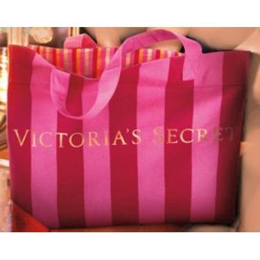 Victoria's Secret Pink Stripe Holiday Edition Shopper Bag Tote
