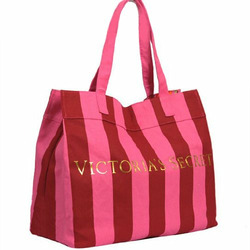 Victoria's Secret Pink Stripe Holiday Edition Shopper Bag Tote