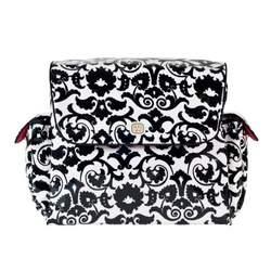 Fleurville Mothership Diaper Bag, Black/White