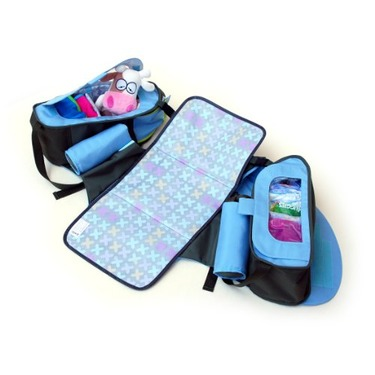 Boogaloo 58 - Seashell Blue Diaper Bag