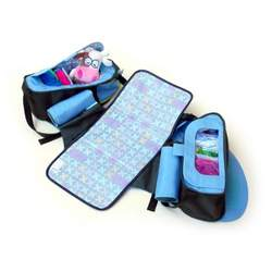 Boogaloo 58 - Seashell Blue Diaper Bag