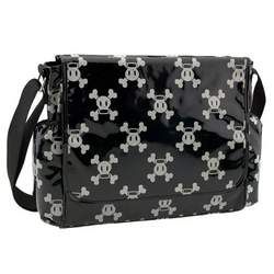 Paul Frank Diaper Bag PVC Messenger Flap Style, Black