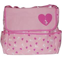 Baby Phat Pink Heart Messenger Diaper Bag