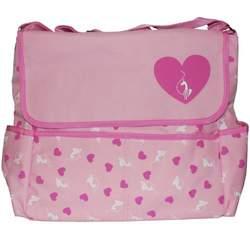 Baby Phat Pink Heart Messenger Diaper Bag