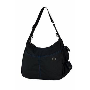 Fleurville Re-Run Hana Diaper Bag, Black/Gray