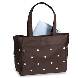 Gerber Fashion Blue / Green Embroidered Dots Baby Diaper Tote Bag + Changing Pad