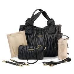 timi & leslie Marie Antoinette II Diaper Bag, Black