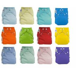 12pack FuzziBunz Perfect Size Diapers - Gender Neutral Colors MEDIUM